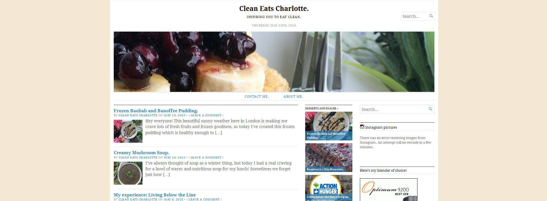 Clean Eats Charlotte Blog